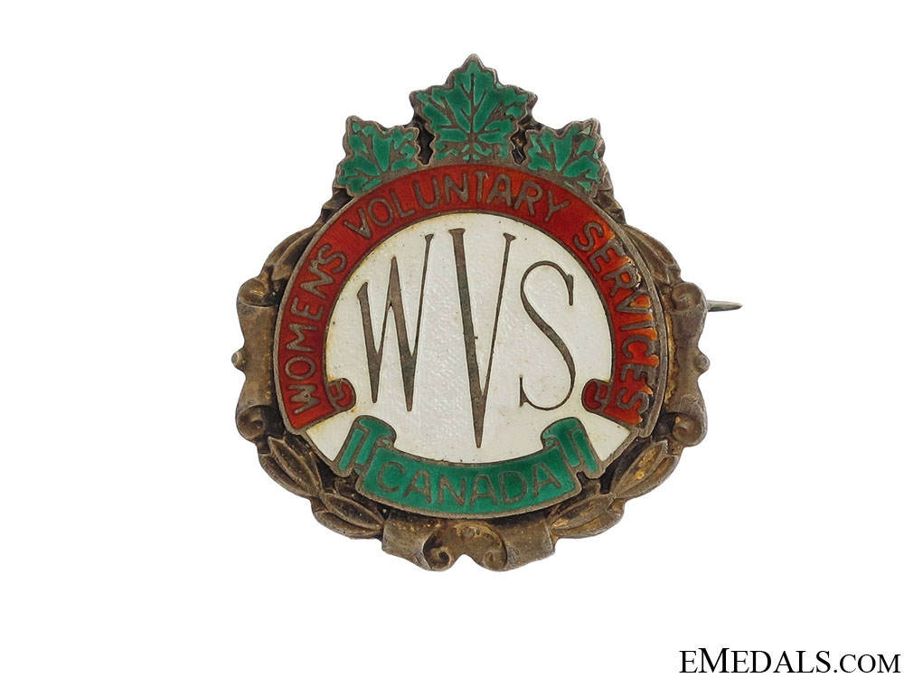 eMedals-WWII Women's Voluntary Services Pin