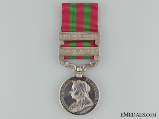 1895-1902 India General Service Medal to Pte. W. Heatle