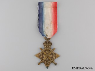 """1914 """"Mons"""" Star to the Army Service Corps"""