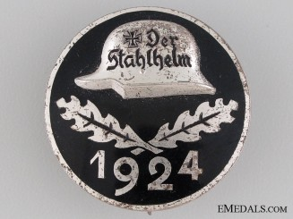 1924 Stahlhelm Membership Badge