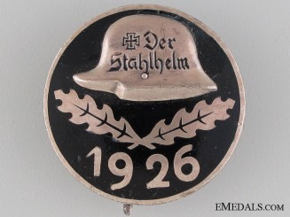 1926 Stahlhelm Membership Badge