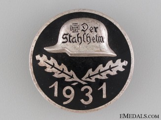 1931 Stahlhelm Membership Badge