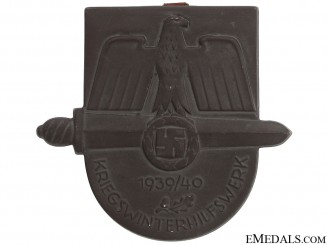 1939-40 Winter War Medical Aid Award Plaque