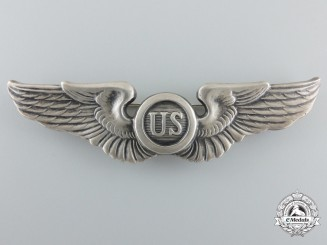 An Early 1920's American Pilot/Observer Badge in Silver