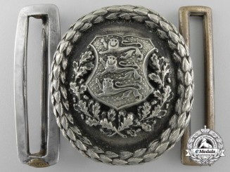 Estonia, 1930's Army Officer's Belt Buckle