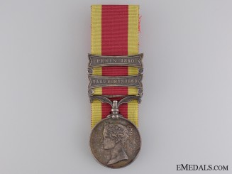 A Second China War Medal to the 13th Brigade; Royal Artillery