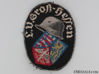 Stahlhelm Cloth Badge
