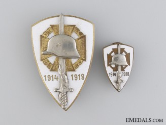 "Two Hungarian WWI Veteran""¢¯s Badges"