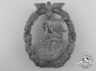 A Kriegsmarine  Auxiliary Cruiser War Badge