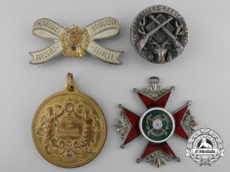 Four German Imperial Shooting Awards