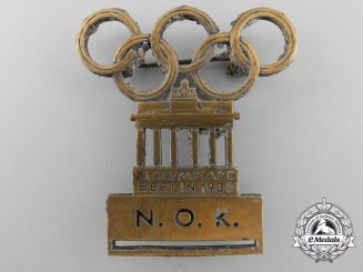 A Rare 1936 Munich Olympic; National Olympic Committee Pin