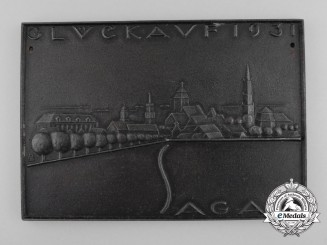 A 1931 Silesia New Year Plaque