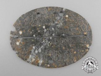 A Second War Ground Found 1st Kosak Division; 2nd Medical Company Identification Tag