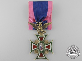 A Fine 1860's Mexican Imperial Order of Guadalupe; 3rd Class Knight's Cross in Gold