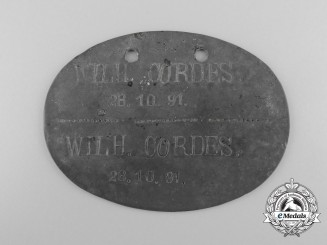 A First War Identification Tag to the Reserve Infantry Regiment 230