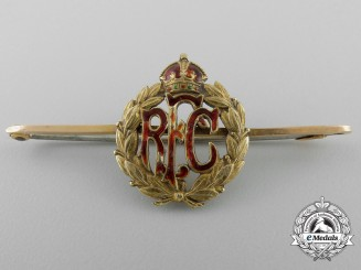 An Early First War Royal Flying Corps Pin in Gold