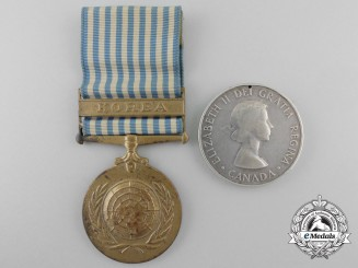 A Canadian Korea War Medal Pair to E.R. Haskill