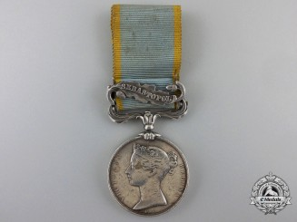 A Crimea Medal 1854-1856 to Sergeant W. Jarvis of the 5th Battalion, Royal Artillery