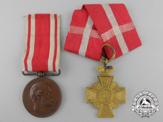 Two Danish Medals & Decorations