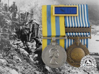 A Korean War Pair with U.S. Presidential Citation to the 41 Independent Commando Royal Marines, Special Forces
