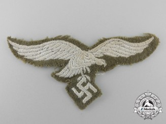 A Tropical Luftwaffe Cloth Breast Eagle; Tunic Removed
