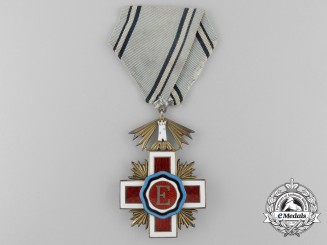 An Estonian Red Cross Decoration; Breast Badge