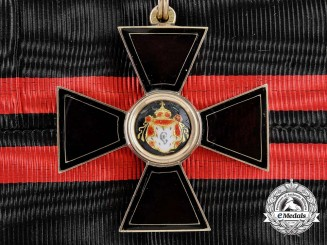 An Exquisite Imperial Russian Order 1880's Order of St. Vladimir in Gold; 4th Class