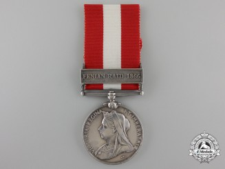 A Canada General Service Medal to Captain Carlow of the Grand Trunk Railway Brigade