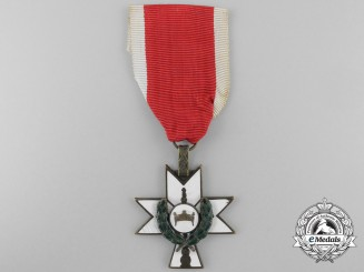 A Croatian Order of King Zvonimir 1941-45; Third Class with Oakleaves