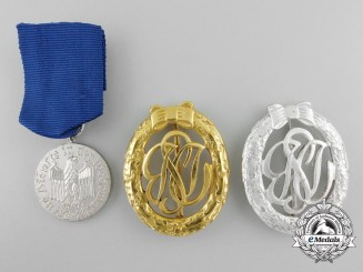 Three 1957 Issue German Medals and Badges