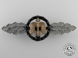 A Luftwaffe Night Fighter Clasp; Gold Grade by Steinhauer & Lück, Lüdenscheid