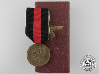 A Commemorative Medal for 1. October 1938 with Case of Issue