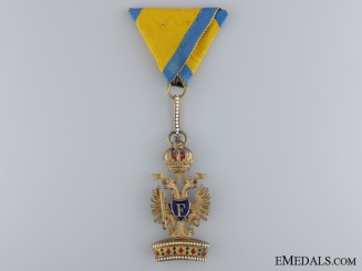A 1917-1918 Austrian Order of the Iron Crown; 3rd Class