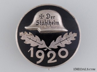 A 1920 Stahlhelm Membership Badge