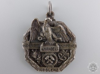 A 1928 Koblenz Chamber of Commerce and Industry Forty Year Service Medal