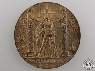 A 1939 Czechoslovakia Shall Be Free Again Medal by Medallic Art Co. NY.