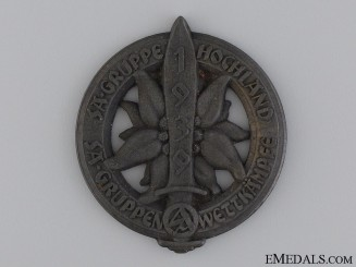 A 1939 SA Group Hochland Sports Competition Badge