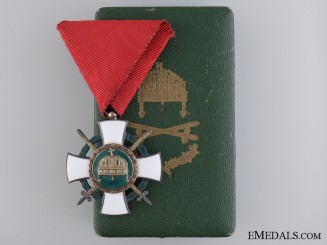 A 1942 Hungarian Order of the Holy Crown; Knight Badge