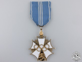 A 1952 Finnish Olympic Order of Merit; Second Class