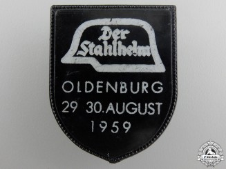 A 1959 Oldenburg Der Stahlhelm Meeting Badge