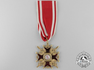 A First War Russian Order of St. Stanislaus Military Division; Third Class
