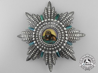 An Iranian Order of the Homayoun/Lion and Sun; Grand Cross Star by Halley, Paris