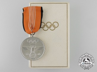 A XI Summer Olympic Games Medal with Case
