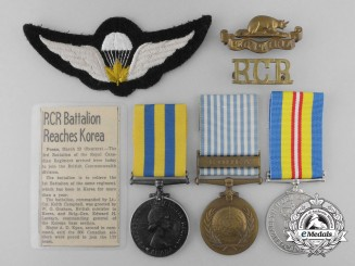 A Korean War Group to the Royal Canadian Regiment