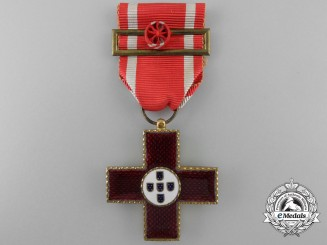 A Portuguese Red Cross Merit Medal; Officer's Breast Cross