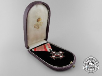 An Austrian Military Merit Cross with War Decoration & Case