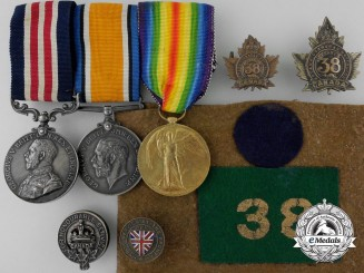 A First War M.M. Awarded for Action near Bourlon Wood 1917
