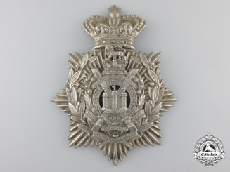 A Victorian King's Own Scottish Borderers Helmet Plate