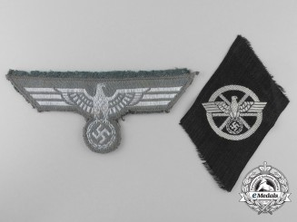 Two Second War German Cloth Insignia