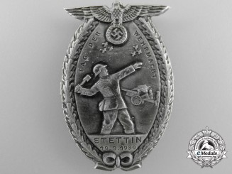 """A German Armed Forces """"Wehrmacht"""" Day at Stettin 1939 Tinnie by Paulmann & Crone"""
